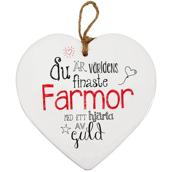 Skylt, Message heart - Farmor