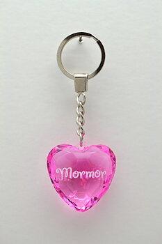 Nyckelring, Diamond heart - Mormor
