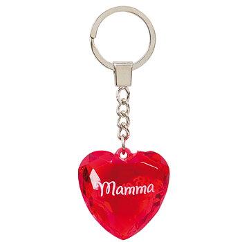 Nyckelring, Diamond heart - Mamma