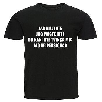 T-shirt - Jag är pensionär