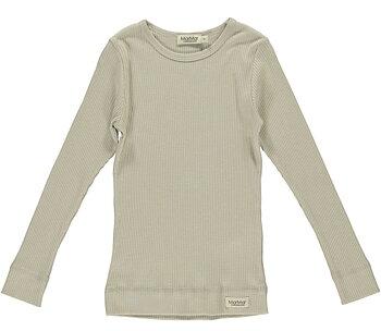 MarMar -  ribbad tröja grey sand