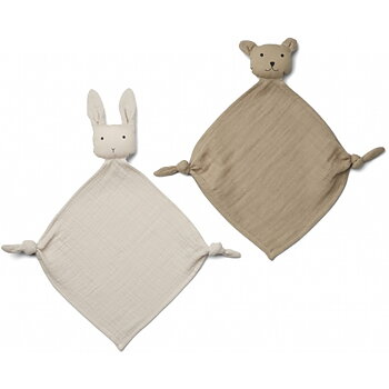 Liewood - cuddle cloth sand & beige 2-pack