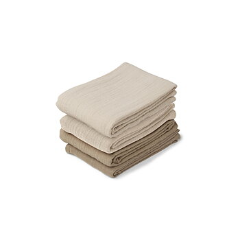 Liewood - muslin cloth 4 pack, natural