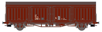 Godsvagn SJ Hbis 21 RIV 74 SJ 225 0 448-0