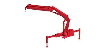 Hiab X-HIPRO 232-E3 kran med krok, röd