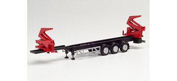 Containertrailer Hammar SIMA, svart