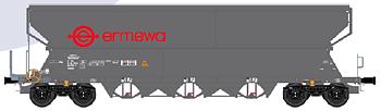 Spannmålsvagn Tagnpps 101m³ 'ERMEWA', mörkgrå, AC