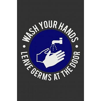 Informationsmatta Wash Hands