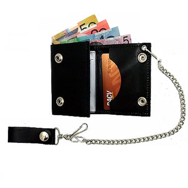 WLC2010 Brown, 4 Tri-Fold Wallet Hot Leathers