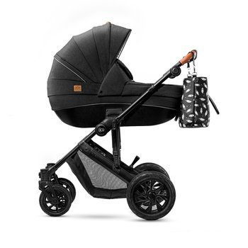 Kinderkraft Prime barnvagnspaket 3i1, 2020 (22kg maxvikt) - Black
