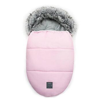 Vinteråkpåse med päls, Egg - Pink