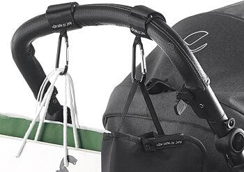 Barnvagnskrokar karbinhake 2-pack