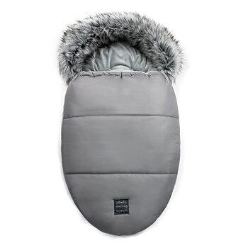 Vinteråkpåse med päls, Egg - Grey
