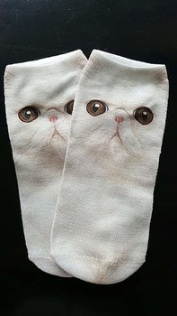 Anklesock with various cat motives