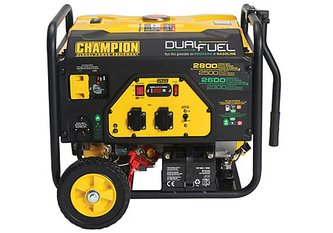 Champion 2800 Watt Dual Fuel Generator With Electric Start