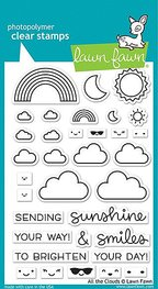 Lawn Fawn - All the Clouds - Clearstamps