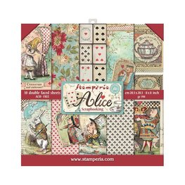 "Stamperia - Alice - Paper Pad 8""X8"""