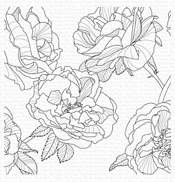 My Favorite Things - Cling Stamp - Fanciful Roses Background