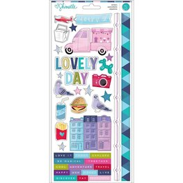 American Crafts - Sparkle City -  Accents & Phrases W/Holographic Foil
