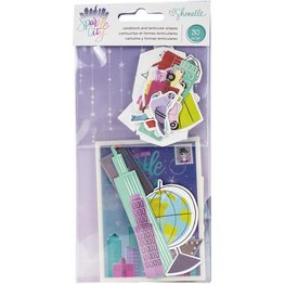 American Crafts - Sparkle City -  Ephemera Cardstock Die-Cuts 30/Pkg
