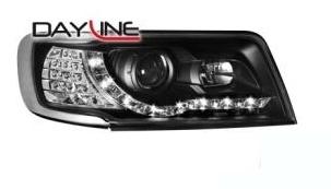 DAYLINE Strålkastare AUDI 100 Typ 4C TFL Optik_black