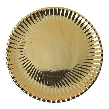 Papperstallrik Guld 18 cm 10 st