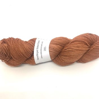 Hand dyed Stäket Sock Rust