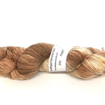 Handdyed Kid Mohair Sock Brown