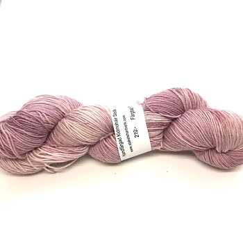 Handdyed Kid Mohair Sock Light Rose