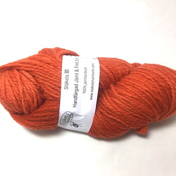 Hand dyed Jämt & Fint 2 ply Orange