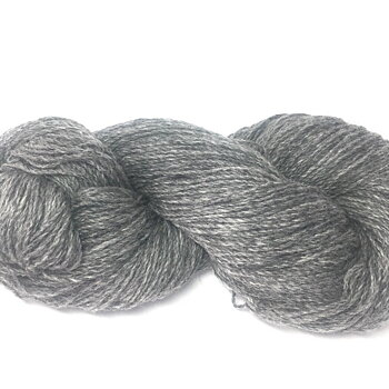 Dark Grey Z twined wool yarn