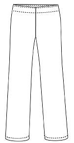 Kläder Stretchbyxa dam vit