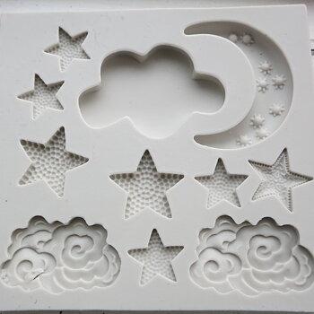 Silkonform - Måne, moln och stjärnor 1 form