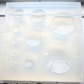 Silkonform - Cabochon Runda mixade släta II 1 form