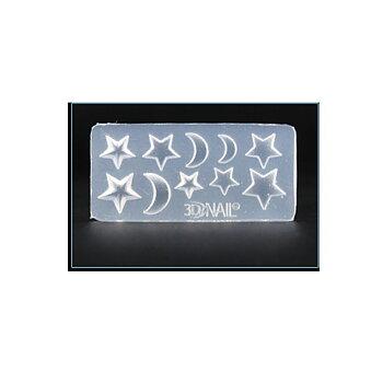 Silkonform - Mini Stjärnor och måne 1 form