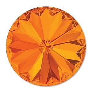 Swarovski crystals Rivoli - Tangerine 47ss (10mm), 1 styck