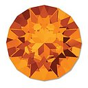 Swarovski Chaton 1088 SS29 - Tangerine Foiled 6mm 2- pack