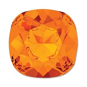 Swarovski Crystals Fancy Cushion - Tangerine 10mm, 1 styck