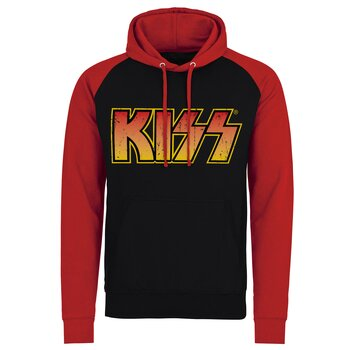 KISS Distressed Logotype Baseball Hoodie