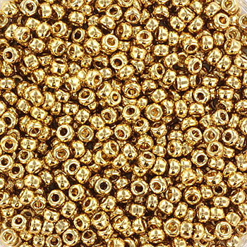 Miyuki seed beads - 24K Gold light plated 11/0, 10 gram
