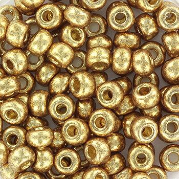 Miyuki seed beads - Duracoat  Galvanized Champagne  6/0, 10 gram