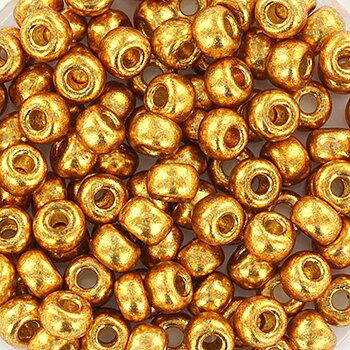 Miyuki seed beads - Duracoat  Galvanized Yellow Gold 6/0, 10 gram