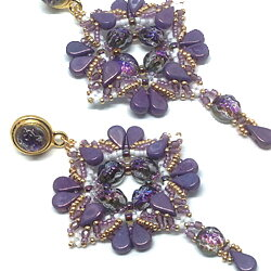 Mönster Örhängen - Purple Rain Earrings