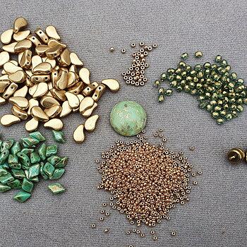 Kit Kurbits Necklace - Grön/Guld