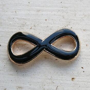 Connector infinity - Evighetstecken emalj Svart , 1 styck