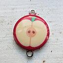 Connector Silverfärgad - Emaljerad Äpple 1 styck