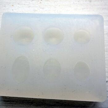 Silkonform - Mini Cabochoner oval och rund 1 form