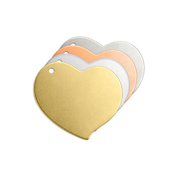"Swirly Heart w/ Hole, 3/4""- Premium Stamping Blanks"