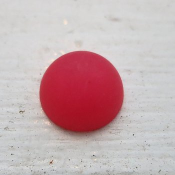 Cabochon av resin - Polaris Rosa, 12mm, 1 styck