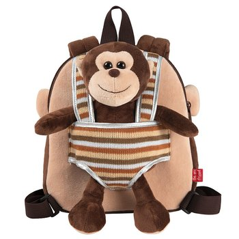 Max Monkey Ryggsäck with plush toy 25cm